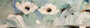 "SOLD ""A Wing and a Prayer,"" by Susan Flaig 12 x 36 – acrylic/graphite $1125 Unframed"
