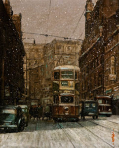 """SOLD """"Winter's Arrival,"""" by Alan Wylie 8 x 10 - oil $1270 Unframed $1450 in show frame"""