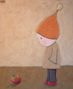 "SOLD ""The Wondering Boy,"" by Peter Wyse 30 x 36 – acrylic $1350 (unframed panel  with 1 1/2"" wide edging)"