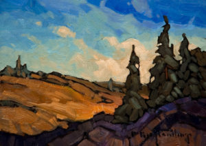 "SOLD ""111 Mile Valley,"" by Phil Buytendorp 5 x 7 - oil $565 Framed $415 Unframed"
