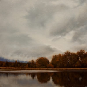 "SOLD ""Autumn on the Marsh,"" by Ray Ward 12 x 12 - oil $960 Framed"