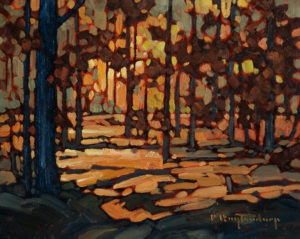 "SOLD ""Autumn Stroll,"" by Phil Buytendorp 8 x 10 - oil $430 Unframed $595 with Show frame"