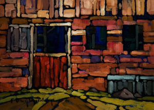 "SOLD ""Barn Basement No. 2,"" by Phil Buytendorp 5 x 7 - oil $565 Framed $415 Unframed"