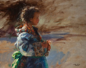 """SOLD """"Candy Bar,"""" by Donna Zhang 16 x 20 - oil $2910 in show frame $2630 in standard frame"""