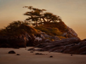 "SOLD ""Coastal Evening Harmony,"" by Ray Ward 9 x 12 - oil $865 Framed"