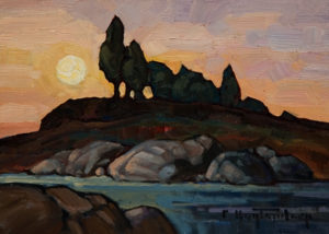 "SOLD ""Evening Sun,"" by Phil Buytendorp 5 x 7 - oil $565 Framed $415 Unframed"