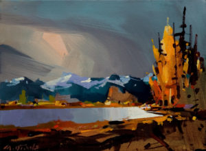 "SOLD ""Fraser Valley Storm,"" by Michael O'Toole 9 x 12 - acrylic $600 Unframed $795 with Show frame"