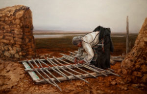 "SOLD ""Gateway,"" by Donna Zhang 30 x 48 - oil $8700 in show frame $7860 in standard frame"