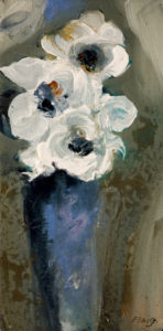 "SOLD ""Gentle Way,"" by Susan Flaig 6 x 12 - acrylic/graphite $380 Unframed"