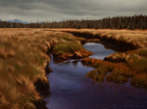 "SOLD ""Hansen Meadows in May,"" by Ray Ward 9 x 12 - oil $865 in show frame $825 in standard frame"