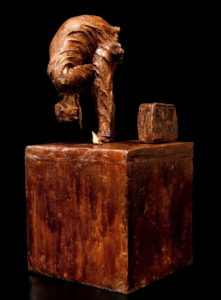 "SOLD ""He Approached Like a God,"" by Michael Hermesh ceramic sculpture - 16"" (H) $2500"