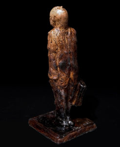 "SOLD ""Icarus in Later Years,"" by Michael Hermesh 3 x 3 x 7 - ceramic $600"