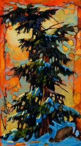 "SOLD ""I Feel Small,"" by David Langevin 5 x 9 - acrylic $385 Unframed $515 with Show frame"