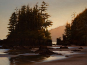 "SOLD ""Into the Half Light,"" by Ray Ward 9 x 12 - oil $865 Framed"
