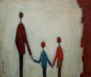 "SOLD ""I See Mom,"" by Bev Binfet 12 x 14 - acrylic $470 Unframed"