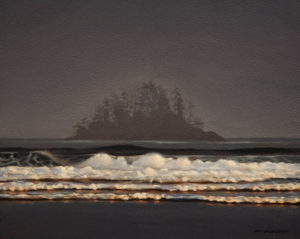 "SOLD ""Island,"" by Ray Ward 8 x 10 - oil $745 in show frame $720 in standard frame"