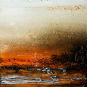 """SOLD """"Let it Simmer,"""" by Laura Harris 30 x 30 - acrylic $2980 in show frame $2700 unframed (thick canvas wrap)"""