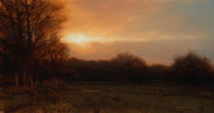 "SOLD ""McKechnie Road Meadow,"" by Renato Muccillo 4 3/4 x 8 3/4 - oil $1185 Framed"