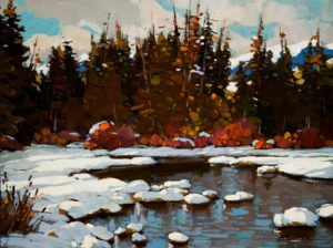 """SOLD """"Morning View (Study),"""" by Min Ma 9 x 12 - acrylic $935 in show frame $915 in standard frame"""