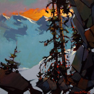 "SOLD ""Near the Precipice, Tantalus Range,"" by Michael O'Toole 12 x 12 - acrylic $930 Framed $720 Unframed"