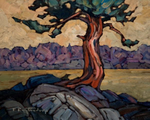 "SOLD ""Old Arbutus,"" by Phil Buytendorp 8 x 10 - oil $430 Unframed $595 with Show frame"