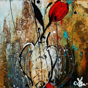 "SOLD ""One True,"" by Laura Harris 6 x 6 - acrylic $600 (thick canvas wrap without frame)"
