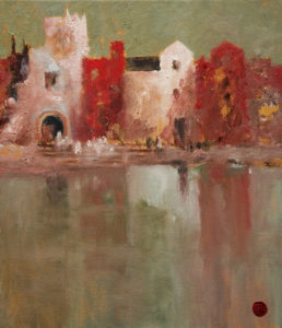 "SOLD ""On the Hooghly,"" by H. E. Kuckein 12 x 14 - oil $1200 Unframed $1410 with Show frame"
