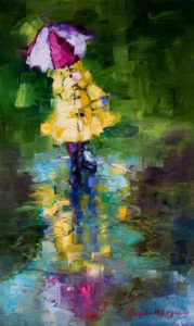 "SOLD ""Predictable,"" by Angela Morgan 12 x 20 - oil $900 (thick canvas wrap without frame)"