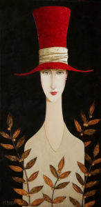 "SOLD ""Sara's Garden,"" by Danny McBride 12 x 24 - acrylic $1800 (thick canvas wrap without frame) $2060 with Show frame"