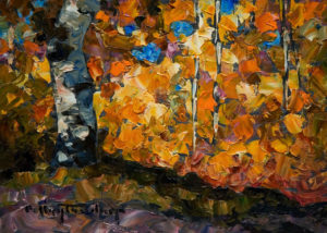 "SOLD ""Shade,"" by Phil Buytendorp 5 x 7 - oil $565 Framed $415 Unframed"