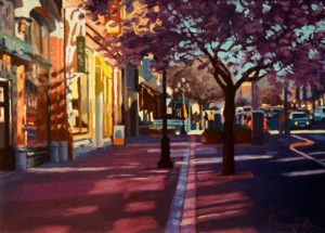 "SOLD ""Spring Blossoms,"" by Larry Bracegirdle 9 x 12 - oil $1115 Custom framed $900 Unframed"