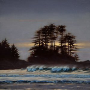 "SOLD ""Storm Light, West Coast,"" by Ray Ward 8 x 8 - oil $685 Framed"