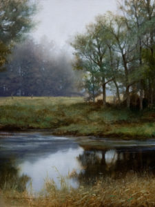 "SOLD ""Sulina Headwater - Oct,"" by Renato Muccillo 6 x 8 - oil $1100 Framed"