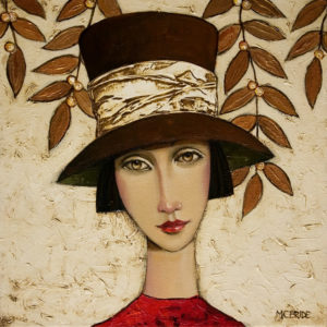 "SOLD ""Tess,"" by Danny McBride 12 x 12 - oil $1275 in artist's frame"