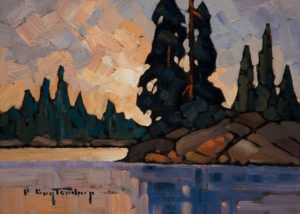 "SOLD ""Upon Reflection,"" by Phil Buytendorp 5 x 7 - oil $565 Framed $415 Unframed"