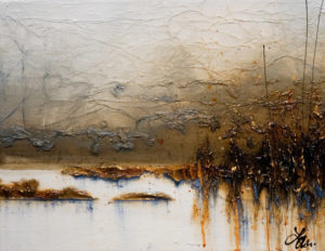 """SOLD """"Where Worries Fade,"""" by Laura Harris 14 x 18 - acrylic $1380 in show frame $1240 unframed (thick canvas wrap)"""