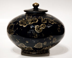 "SOLD Lidded vessel (3082) – 8"" x 9"" by Bill Boyd $575"