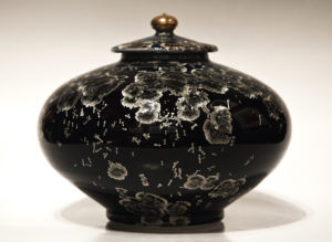 "SOLD Lidded vessel (3083) – 7 1/2"" x 9"" by Bill Boyd $575"