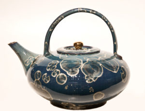 "SOLD Teapot (BB-3268) by Bill Boyd crystalline-glaze ceramic – 7 1/2"" (H) $450"