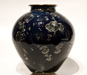 "SOLD Vase (BB-3317) by Bill Boyd crystalline-glaze ceramic – 8"" x 7 1/2"" $350"