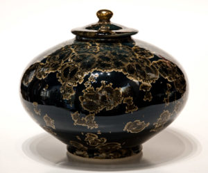 "SOLD Vessel (BB-3360) by Bill Boyd crystalline-glaze ceramic – 8"" (H) x 9"" (W) $525"