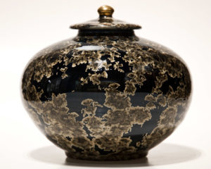 "SOLD Vessel (BB-3378) by Bill Boyd crystalline-glaze ceramic – 7 1/2"" (H) $450"