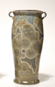 "SOLD Vase (BB-3386) by Bill Boyd crystalline-glaze ceramic – 9"" (H) $260"