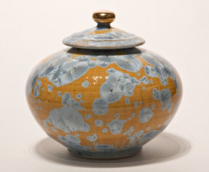 "SOLD  Vessel (BB-3478) by Bill Boyd crystalline-glaze ceramic – 6 1/2"" x 7"" $375"
