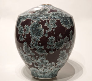 "SOLD Vase (BB-3514) by Bill Boyd crystalline-glaze ceramic – 10"" x 8"" $550"