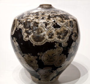"SOLD Vase (BB-3515) by Bill Boyd crystalline-glaze ceramic – 9"" x 8"" $485"
