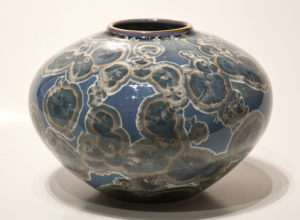 "SOLD Vase (BB-3517) by Bill Boyd crystalline-glaze ceramic – 5"" x 7 1/2"" $265"