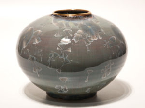 "SOLD Vase (BB-3546) by Bill Boyd crystalline-glaze ceramic – 5"" x 6 1/2"" $210"