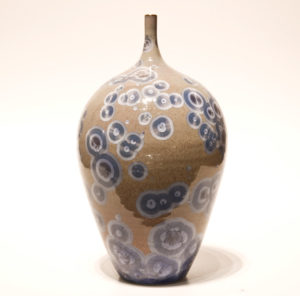 "SOLD Bottle (BB-3549) by Bill Boyd crystalline-glaze ceramic – 9"" x 5"" $225"