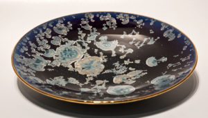"SOLD Bowl (BB-3552) by Bill Boyd crystalline-glaze ceramic – 11"" $175"